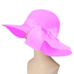 Straw Summer Hat With Ribbon Visor