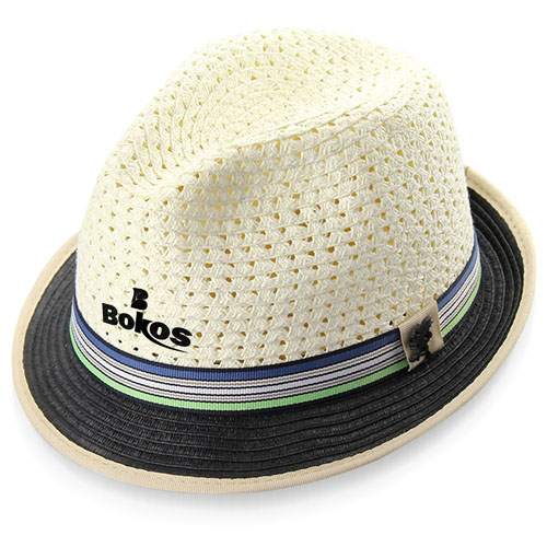 Two-Tone Paper Straw Hat