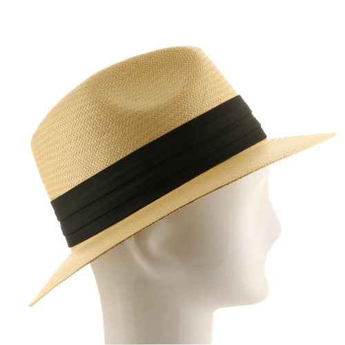 Winding Straw Hat With Ribbon