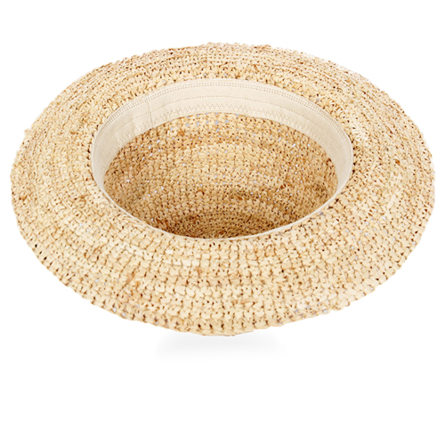 Fine Straw Cloche Hat Image 2