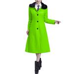 Cashmere Fur Collar Womens Long Coat