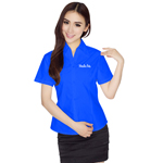 Slim Short-Sleeve Ladies Formal Shirt