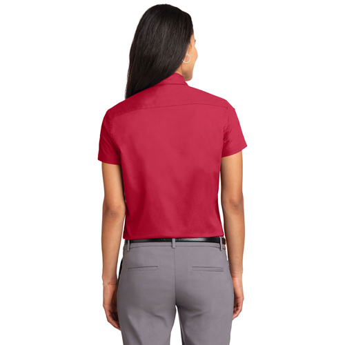 Slim Short-Sleeve Ladies Formal Shirt Image 1