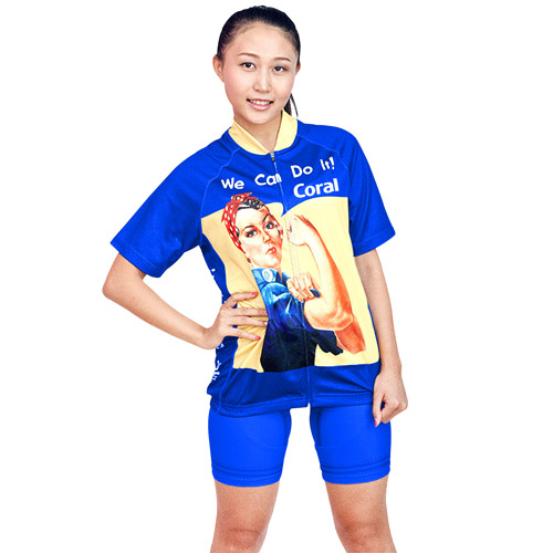 Womens Short Sleeve Cycle Jersey Suit