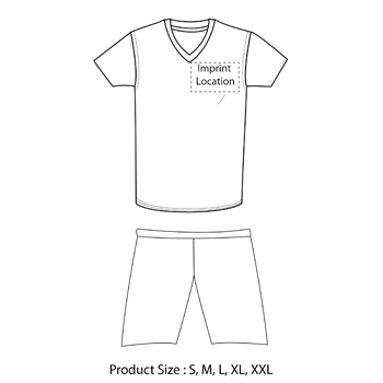 Men Striped Soccer Jersey