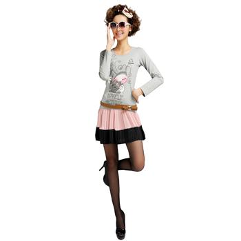 Cotton Long Sleeve Women T-Shirt