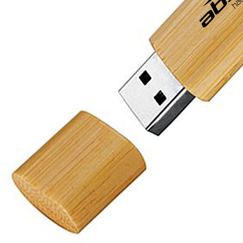 1GB Bamboo USB Flash Drive Image 2