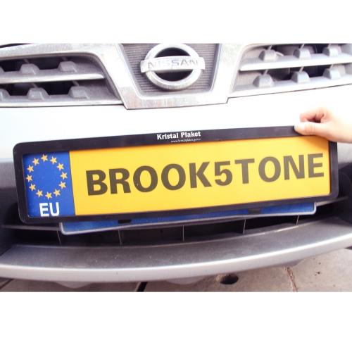 Plastic Vehicle Registration Plate Holder Image 3