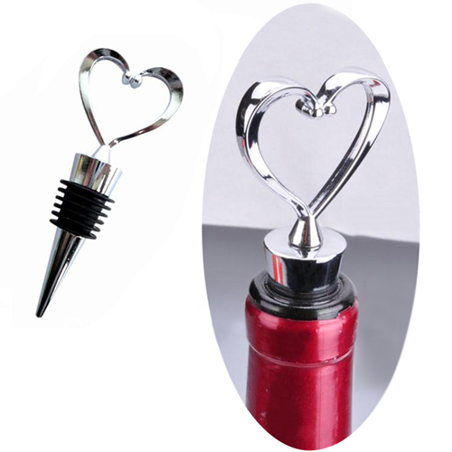 Zinc Alloy Heart Shaped Wine Stopper