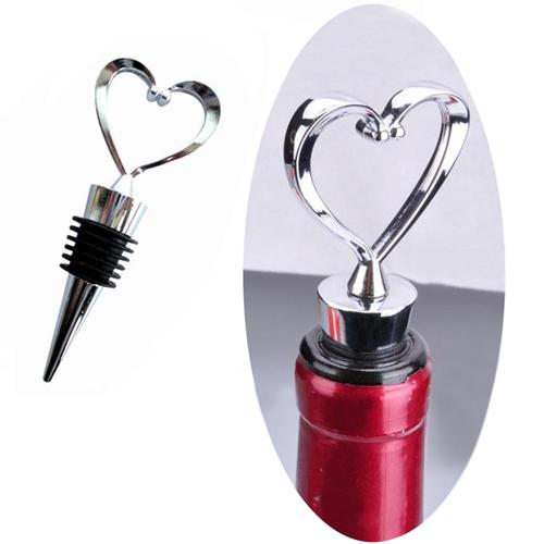 Zinc Alloy Heart Shaped Wine Stopper