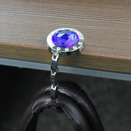 Round Shaped Diamond Purse Hanger
