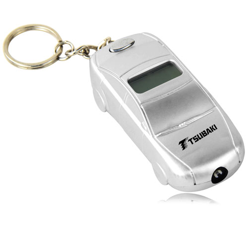Car Shaped Tire Gauge With Keychain