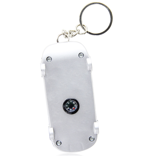 Car Shaped Tire Gauge With Keychain Image 1