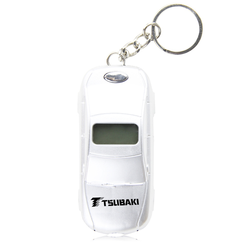 Car Shaped Tire Gauge With Keychain Image 2