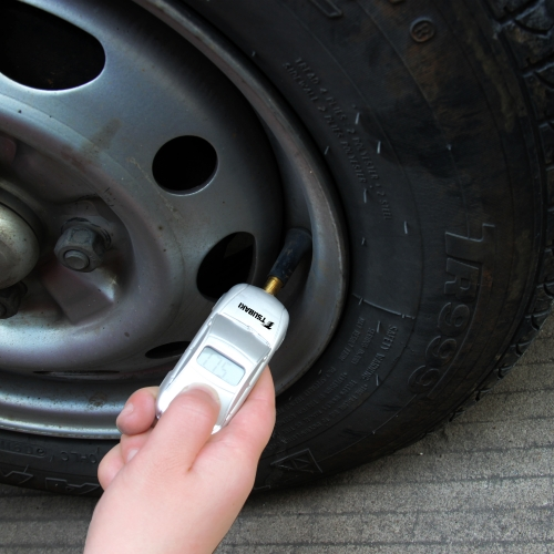 Car Shaped Tire Gauge With Keychain Image 3
