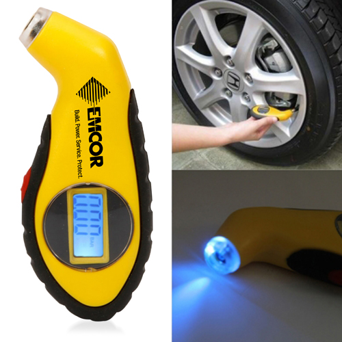 Digital Tire Gauge With LED Indicator