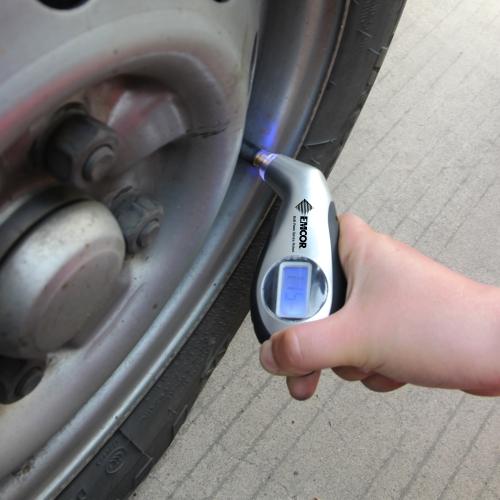 Digital Tire Gauge With LED Indicator