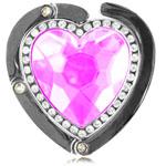 Crystal Heart Shaped Purse Hanger