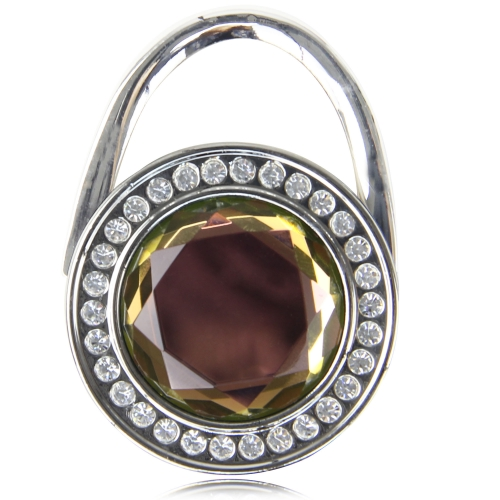 Circle Folding Crystal Purse Hook