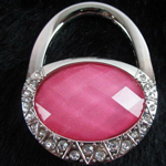 Diamond Dust Oval Purse Hook