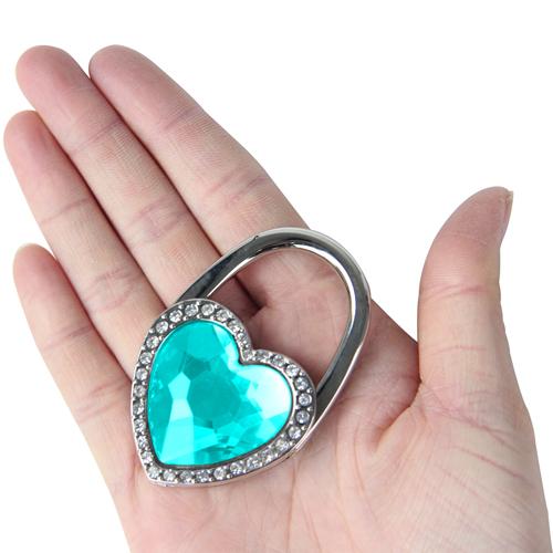 Heart Shaped Rhinestone Purse Holder