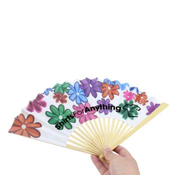 Bamboo Frame Flat Paper Hand Fan