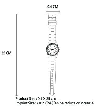Silicone Rhinestones Women Wristwatch