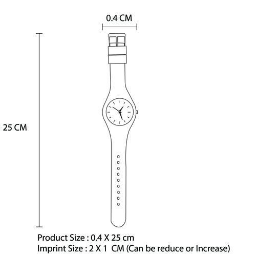 Women Casual Silicone Wrist Watch