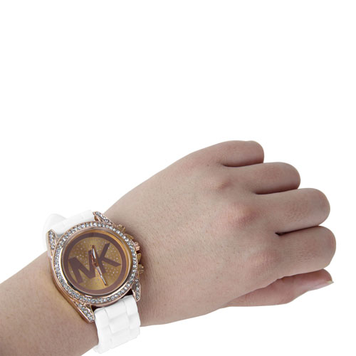 Silicone Men\'s Watch With Diamond