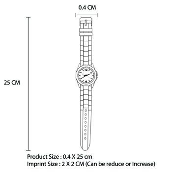 Double-Color Silicone Wrist Watch