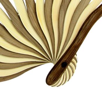 Bent Bamboo Nylon Hand Fan