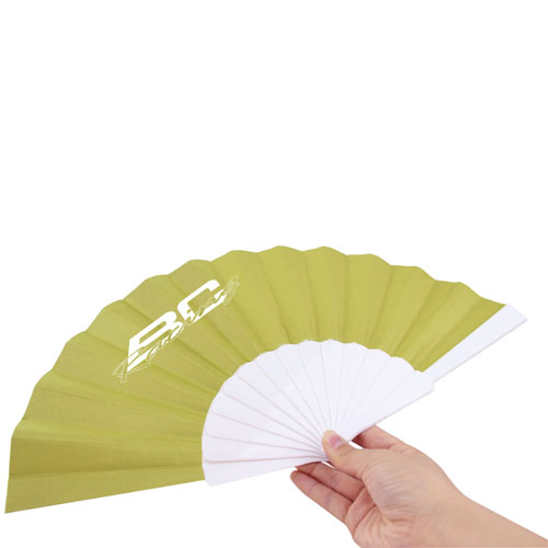 Hand Folding Polyester Fan Image 3