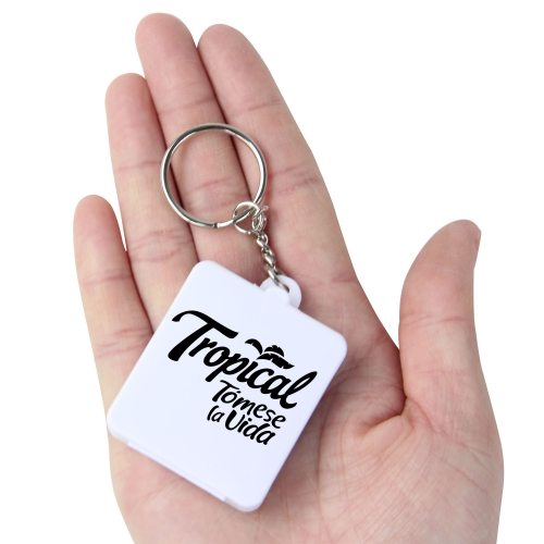 Square Shaped Pill Holder Keychain Image 4