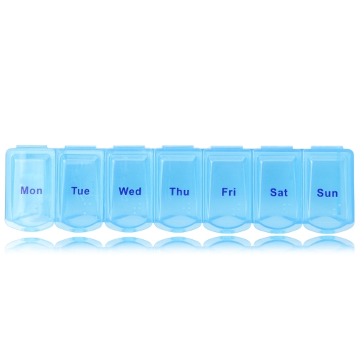 Translucent Weekly 7 Days Pill Box Image 1