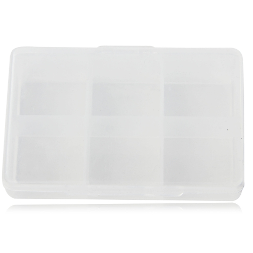 Clear 6 Compartment Pill Storage Box