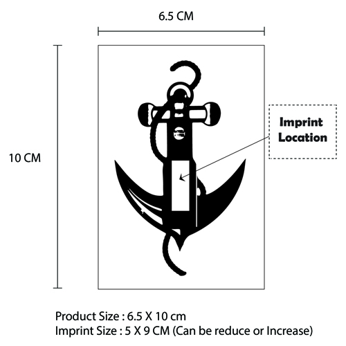 Temporary Anchor Tattoo Imprint Image