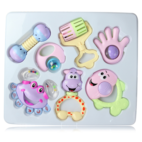 7 Piece Infant Rattle Set
