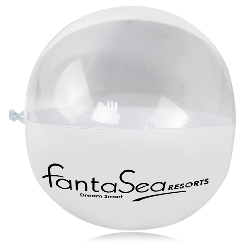Semi-Translucent Inflatable Beach Ball Image 1