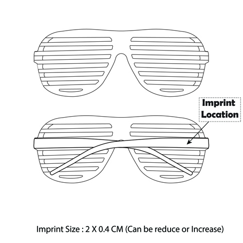 Shutter Striped Sunglass Imprint Image
