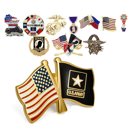 Custom 2 Friendship Flag Lapel Pin