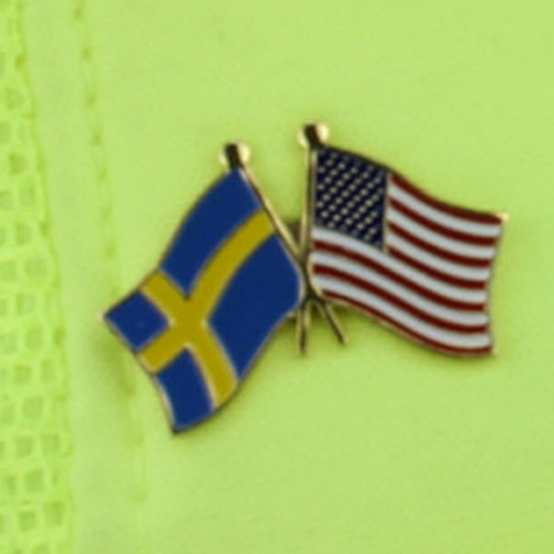 Custom 2 Friendship Flag Lapel Pin