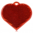 Heart Shaped Reflector Keychain