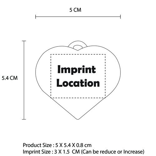 Heart Shaped Reflector Keychain