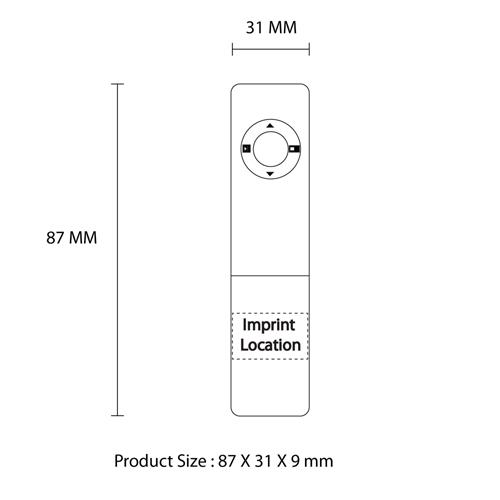 Wireless USB Presentation Remote Laser Pointer