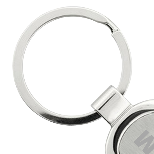 Rectangle Chrome Finish Metal Keychain Image 3