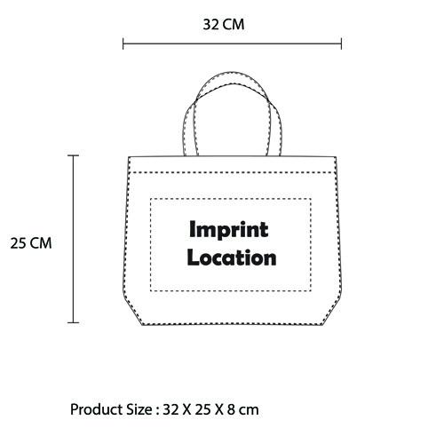 Non-Woven Reusable Tote Bag Imprint Image
