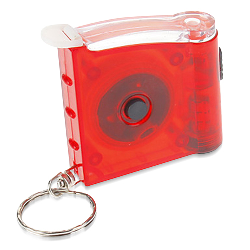 Tape Measure Flashlight Key Chain Image 1