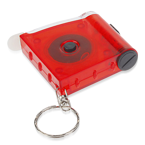 Tape Measure Flashlight Key Chain
