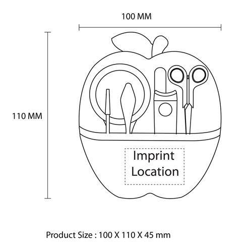 Apple Shaped 9 Piece Manicure Set
