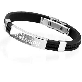 Titanium Steel Bracelet Silicone Bracelet